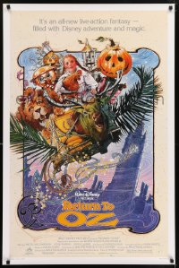 2325UF RETURN TO OZ 1sh '85 Walt Disney, cool Drew Struzan art of very young Fairuza Balk!