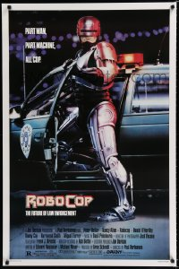 1613UF ROBOCOP 1sh '87 Paul Verhoeven classic, Peter Weller is part man, part machine!