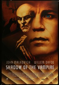 2352UF SHADOW OF THE VAMPIRE 1sh '00 art of John Malkovich as F.W. Murnau, Willem Dafoe, Nosferatu!
