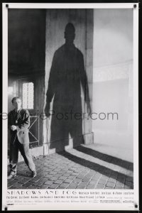 2353UF SHADOWS & FOG DS 1sh '92 cool photographic image of Woody Allen with shadow by Brian Hamill!