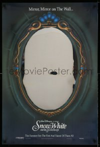 2359UF SNOW WHITE & THE SEVEN DWARFS foil teaser 1sh R93 Walt Disney, mirror, mirror on the wall!
