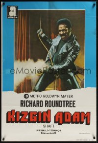 0871UF SHAFT Turkish '71 classic image of tough Richard Roundtree shooting gun!