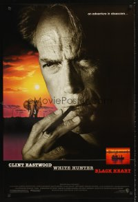 1232UF WHITE HUNTER, BLACK HEART DS 1sh '90 super close up of Clint Eastwood as director John Huston