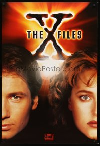 1234UF X-FILES TV 1sh '94 close-up image of FBI agents David Duchovny & Gillian Anderson!
