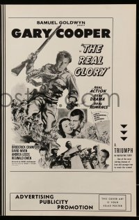 2615 REAL GLORY pressbook R55 Gary Cooper, the story of a U.S. Army doctor's adventures!