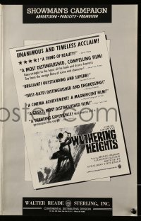 2627 WUTHERING HEIGHTS pressbook R63 Laurence Olivier is torn with desire for Merle Oberon!