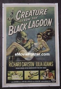 #184 CREATURE FROM THE BLACK LAGOON linen 1sh
