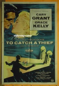 #715 TO CATCH A THIEF 1sh '55 Hitchcock,Kelly