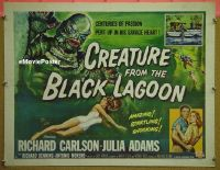 #001 CREATURE FROM THE BLACK LAGOON 1/2sh '54