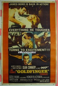 #209 GOLDFINGER 40x60 '64 Connery as Bond
