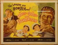 p295 ABBOTT & COSTELLO MEET FRANKENSTEIN half-sheet movie poster R56