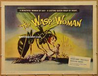 y501b WASP WOMAN paperbacked half-sheet movie poster '59 Roger Corman