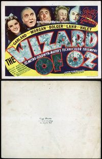 d001 WIZARD OF OZ title movie lobby card '39 the original!