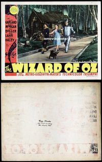 d006 WIZARD OF OZ movie lobby card '39 on the Yellow Brick Road!