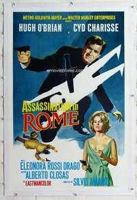 m354 ASSASSINATION IN ROME linen 1sh '65 Charisse