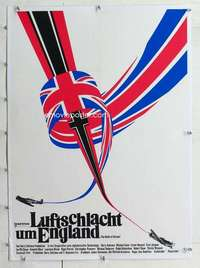 m237 BATTLE OF BRITAIN linen German movie poster '69 cool image!