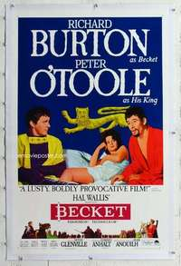 m360 BECKET linen style B one-sheet movie poster '64 Burton, Peter O'Toole