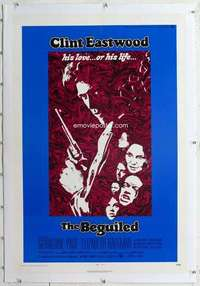 m361 BEGUILED linen one-sheet movie poster '71 Clint Eastwood, Geraldine Page