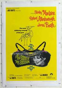 m366 BLISS OF MRS BLOSSOM linen one-sheet movie poster '68 Shirley MacLaine