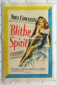 m367 BLITHE SPIRIT linen one-sheet movie poster '45 David Lean classic!