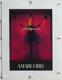 m155 AMARCORD linen Czech movie poster '74 Fellini, wild cool image!