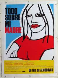 m152 ALL ABOUT MY MOTHER linen Spanish movie poster '99 Pedro Almodovar