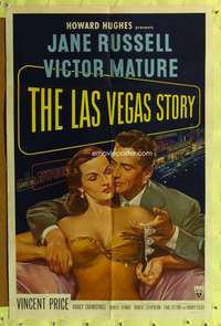 h403 LAS VEGAS STORY one-sheet movie poster '52 Jane Russell, Victor Mature