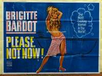 w200 ONLY FOR LOVE British quad movie poster '63 Bardot by Chantrell!