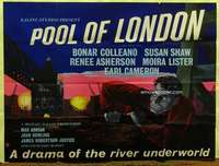 w209 POOL OF LONDON British quad movie poster '51 cool Boswell art!