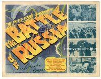 b001 BATTLE OF RUSSIA signed title movie lobby card '43 Col. Frank Capra!