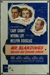 s468 MR BLANDINGS BUILDS HIS DREAM HOUSE one-sheet movie poster '48 Grant