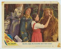 d004 WIZARD OF OZ movie lobby card #6 R49 Dorothy wiping the tears!