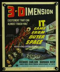 m037 IT CAME FROM OUTER SPACE window card movie poster '53 classic 3D sci-fi!