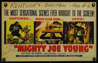 m038 MIGHTY JOE YOUNG window card movie poster '49 1st Harryhausen, Widhoff