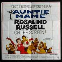 p009 AUNTIE MAME six-sheet movie poster '58 classic Rosalind Russell!
