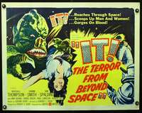 c228 IT THE TERROR FROM BEYOND SPACE half-sheet movie poster '58 sci-fi!