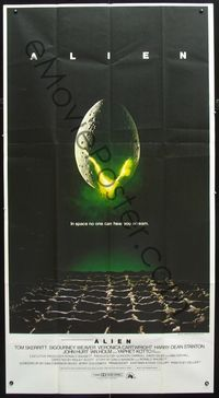 2p096 ALIEN int'l 3sh '79 Ridley Scott outer space sci-fi monster classic, cool hatching egg image!