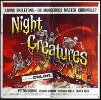 2p094 NIGHT CREATURES 6sh '62 Hammer, great different art of skeletons riding skeleton horses!