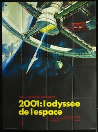 2p192 2001: A SPACE ODYSSEY French 1p R70s Stanley Kubrick, art of space wheel by Bob McCall!