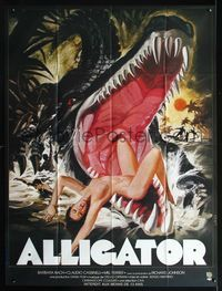 2p214 ALLIGATORS French 1p '80 different Landi art of naked girl eaten by gator!