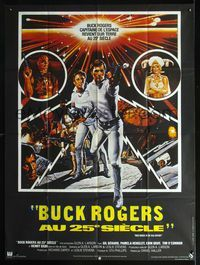 2p196 BUCK ROGERS French one-panel poster '79 classic sci-fi comic strip, art by Victor Gadino!
