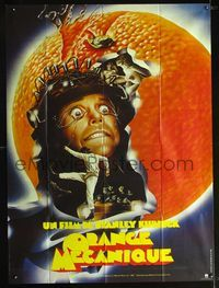 2p197 CLOCKWORK ORANGE French 1p R82 Stanley Kubrick classic, wild art of Malcolm McDowell tortured