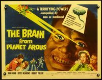2p148 BRAIN FROM PLANET AROUS laminated half-sheet '57 he was the most feared man in the universe!