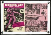 2p036 COMMANDO CODY linen movie herald '53 Sky Marshal of the Universe, cool sci-fi art & images!