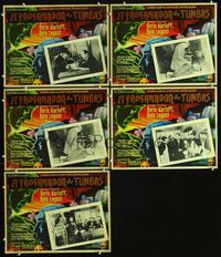 2p283 BODY SNATCHER 5 Mexican LCs R50s images of Boris Karloff & Bela Lugosi, and in border art!