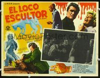 2p260 BUCKET OF BLOOD Mexican movie lobby card '59 Roger Corman, AIP, cool border art!