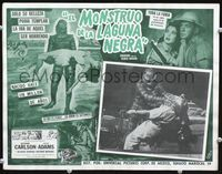 2p261 CREATURE FROM THE BLACK LAGOON Mexican LC '54 border art w/monster & sexy girl by Contreras!