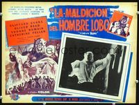 2p262 CURSE OF THE WEREWOLF Mexican LC '61 great images of Oliver Reed as the monster, Hammer