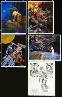 2p321 APPARITIONS set of 4 color movie plates '78 great sci-fi/horror artwork by Berni Wrightson!
