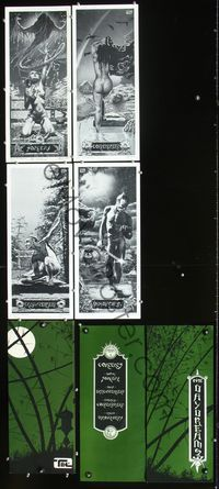 2p319 DAYDREAMS set of 4 signed & numbered 470/500 B&W movie plates '77 fantasy art by Tim Conrad!